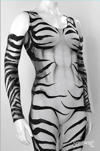 Zebra Print Compression Sleeves - Left and Right