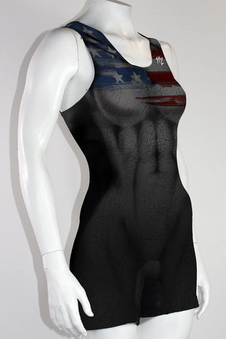 Women's 'USA Dark Star' Weightlifting Singlet