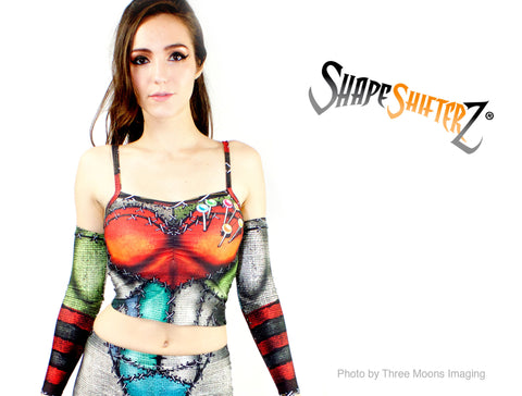 Top/Shirt/Tank/Bra - Women's 'LOVE VOODOO DOLL' Crop Top - Sportswear/costume