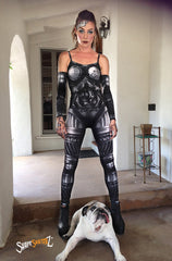Women's 'MACHINE' UNITARD -- sportswear/costume - Steampunk/Robot