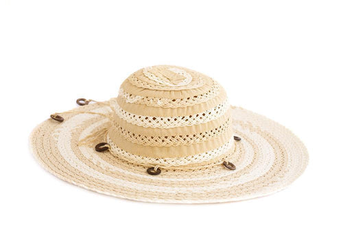Women's Wide Brim Braided Sun Hat