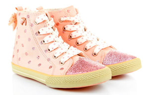 Pink High Top Sneaker