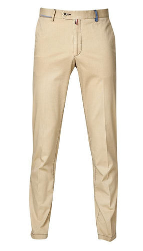 Men's Slim Fit Flat Front Stretch Pants