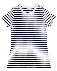 Striped Cotton Loose T-Shirt