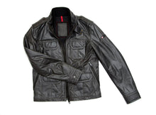Load image into Gallery viewer, Black Slim Fit Biker Leather Jacket