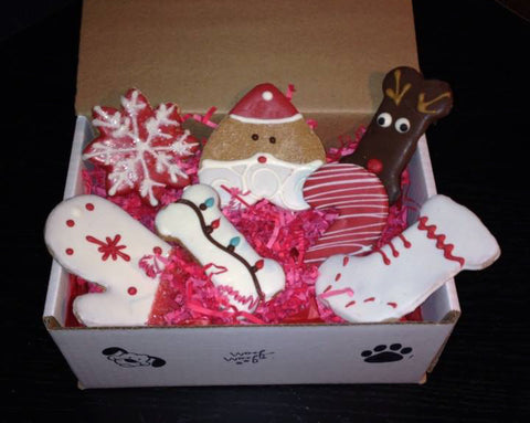 Christmas Dog Cookie Sampler Box