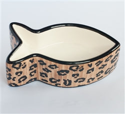 Ceramic Fish Shaped Cat Bowl by Creature Comforts