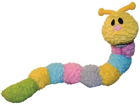 Patchwork Pet Pastel Caterpillar Squeak Toy for Dogs