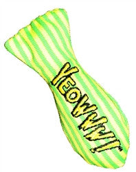 Yeowww! Stinkie Stripes Pattern Cat Toy