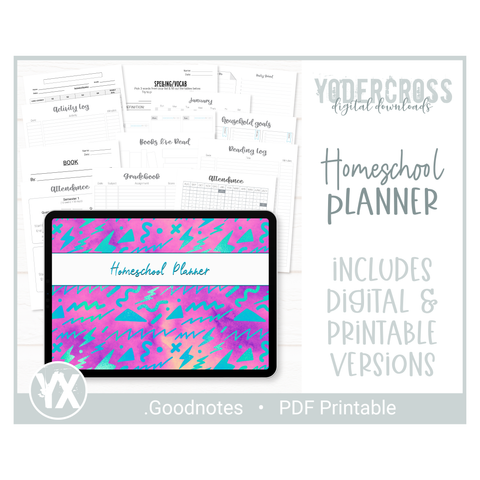 Homeschool Digital Planner & Homeschool Resources