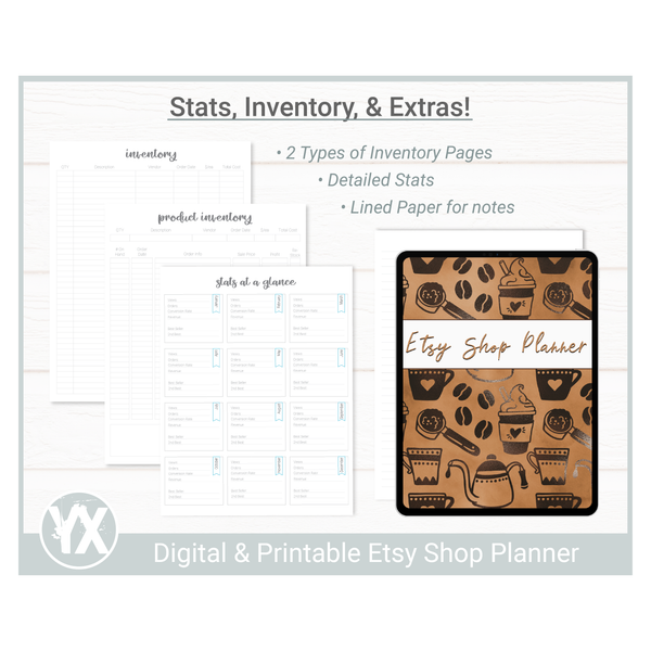 Etsy Shop Planner - Coffee