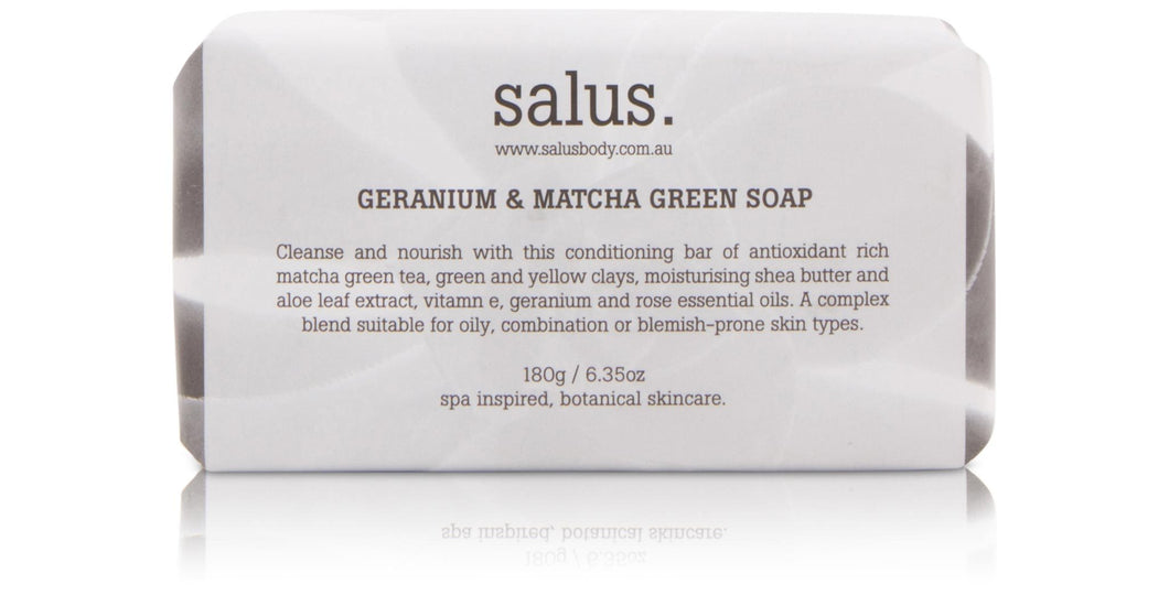 Salus Geranium & Matcha Green Soap Luxe Gift & Decor