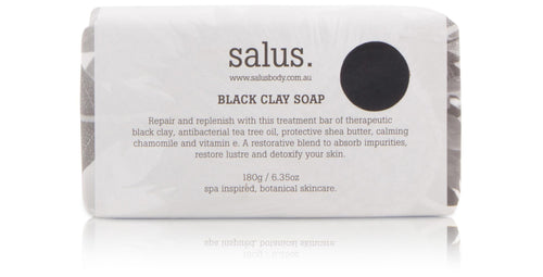 Salus Black Clay Soap Luxe Gift & Decor