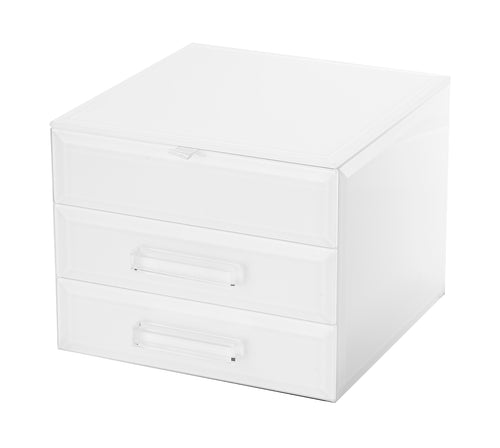 GABRIELLA WHITE SMALL JEWELLERY BOX Luxe Gift & Decor