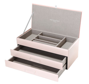 GABRIELLA BLUSH LARGE JEWELLERY BOX  Luxe Gift & Decor