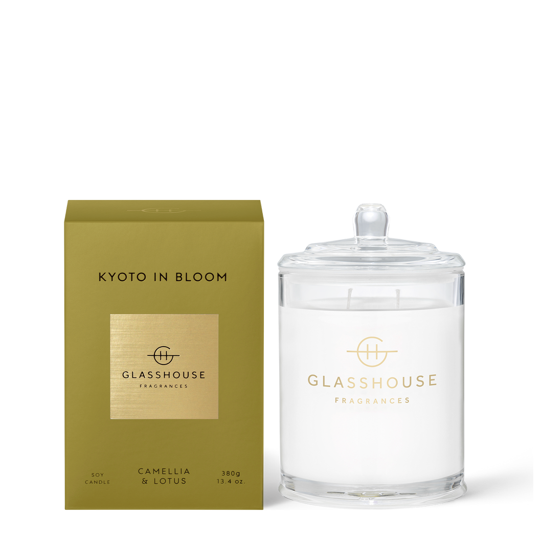 Glasshouse Candle Kyoto In Bloom Luxe Gift & Decor
