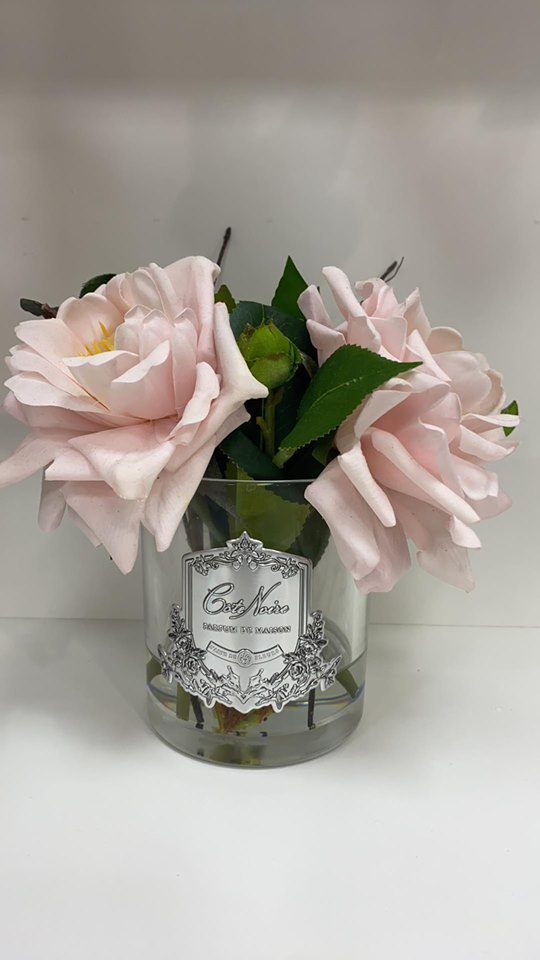 CÔTE NOIRE PERFUMED PINK ROSES LUXE GIFT & DECOR
