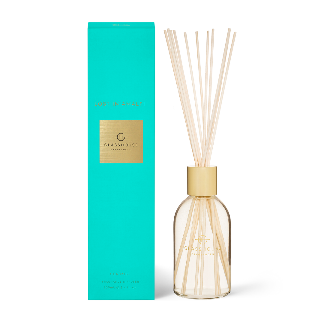 Glasshouse Diffuser Lost In Amalfi  Luxe Gift & Decor