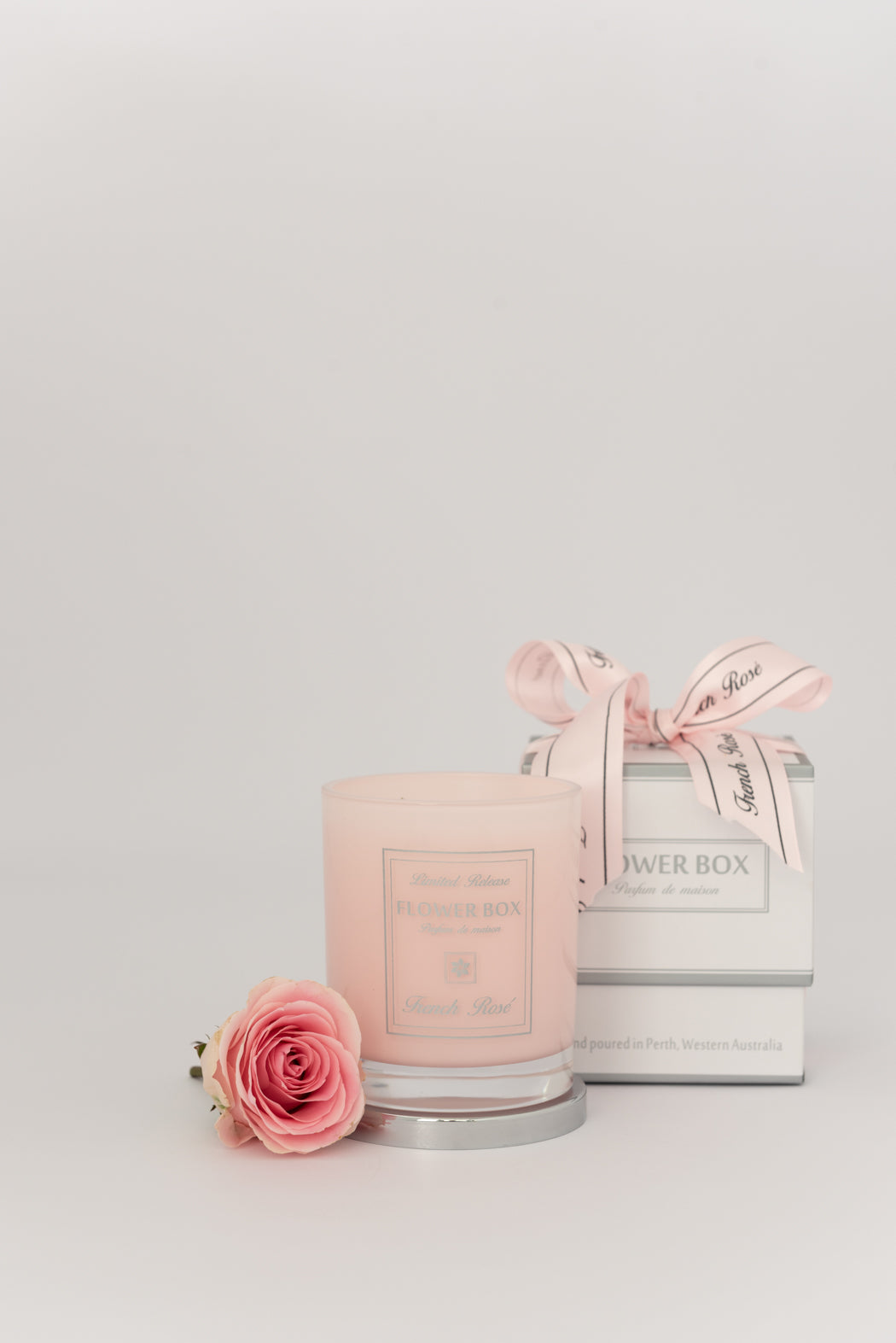 Flower Box French Rosé - Soft Pink Candle Luxe Gift & Decor