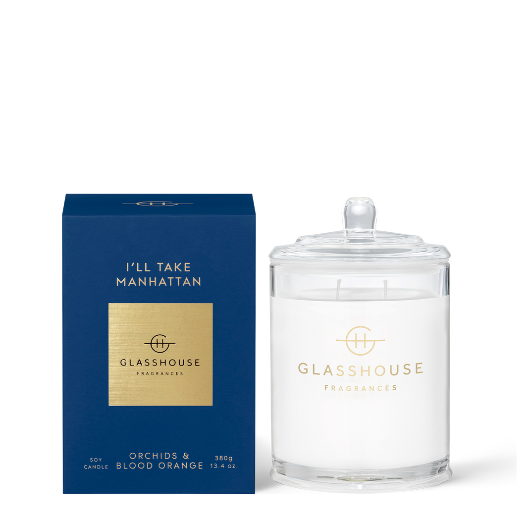 Glasshouse Candle I'll Take Manhattan  Luxe Gift & Decor