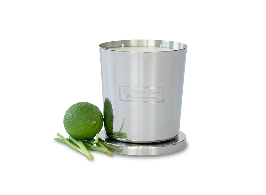 Fresh Lemongrass - 1kg Silver Candle Luxe gift and decor