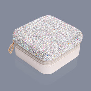 Silver jewellery travel case Luxe gift and decor
