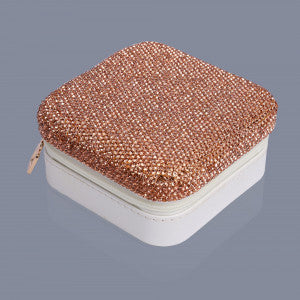 Rose Gold jewellery travel case Luxe gift and decor