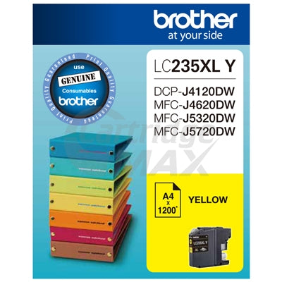 Original Brother LC-235XLY High Yield Yellow Ink Cartridge