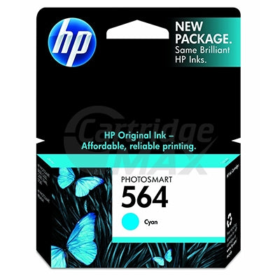 HP 564 Original Cyan Inkjet Cartridge CB318WA - 300 Pages