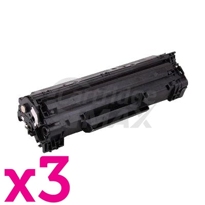 3 x HP CF283A (83A) Generic Black Toner Cartridge - 1,500 Pages