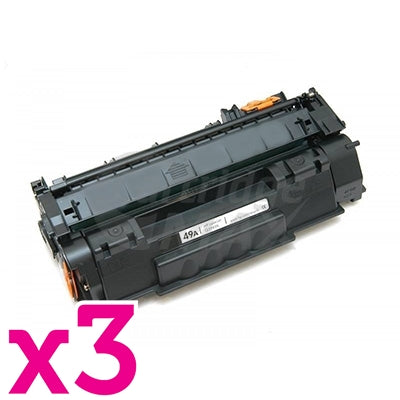 3 x HP Q5949A (49A) Generic Black Toner Cartridge - 2,500 Pages