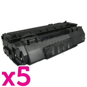 5 x Canon CART-308 Black Generic Toner Cartridge 2,500 Pages