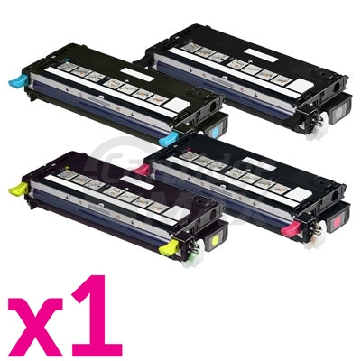 4-Pack Dell 3110 3110CN 3115CN High Capacity Generic laser toner cartridge - 8,000 Pages [1BK,1C,1M,1Y]
