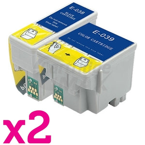 4 Pack Epson T038 T039 Generic Ink Cartridge [2BK,2CL]