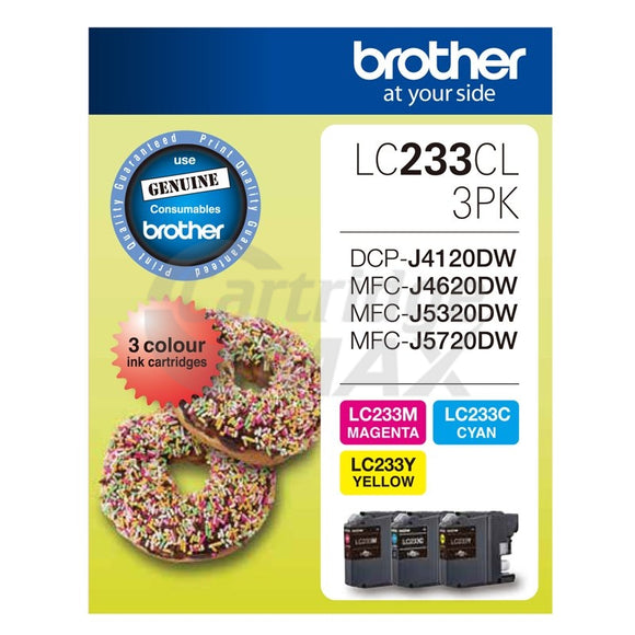 Original Brother LC-233CL3PK Colour Pack [C+M+Y] - 550 Pages each