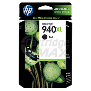 1 x HP 940XL Original Black High Yield Inkjet Cartridge C4906AA - 2,200 Pages