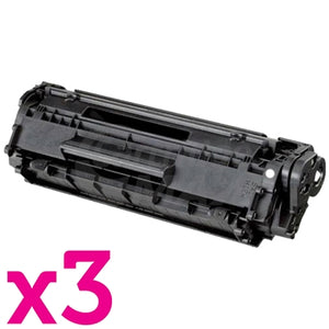 3 x Canon FX-9 Black Generic Toner Cartridge