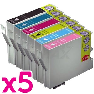 30 Pack Generic Epson 81N Series Ink Combo (5 sets) [5BK,5C,5M,5Y,5LC,5LM]