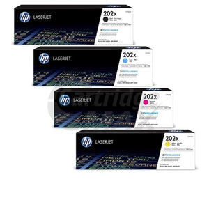 5 Pack HP CF500X-CF503X (202X) Original High Yield Toner Cartridges [2BK,1C,1M,1Y]