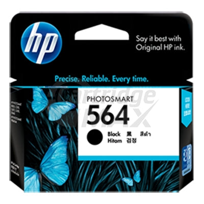 HP 564 Original Black Inkjet Cartridge CB316WA - 250 Pages