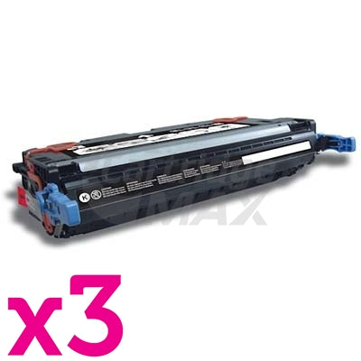 3 x HP Q6460A (644A) Generic Black Toner Cartridge - 12,000 Pages