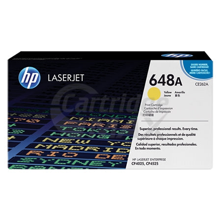 HP CE262A (648A) Original Yellow Toner Cartridge - 11,000 Pages