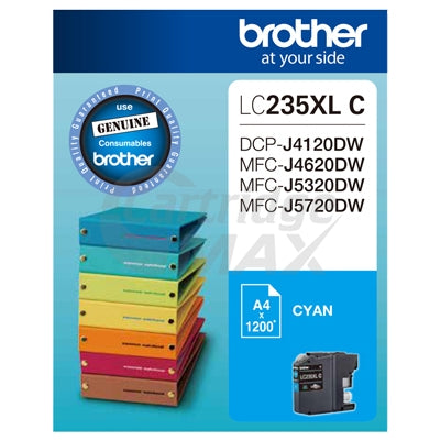 Original Brother LC-235XLC High Yield Cyan Ink Cartridge