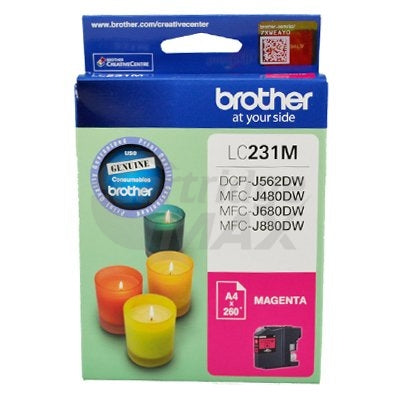 Brother LC-231 Original Magenta Ink Cartridge - 260 Pages