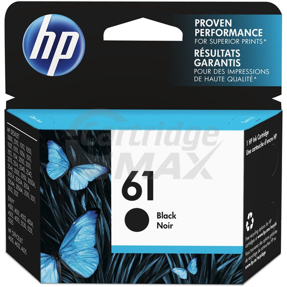HP 61 Original Black Inkjet Cartridge CH561WA - 190 Pages