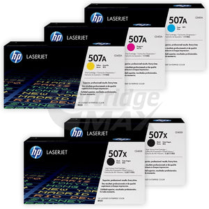 5 Pack HP CE400X-CE403A (507X/507A) Original Toner Cartridges [2BK,1C,1M,1Y]