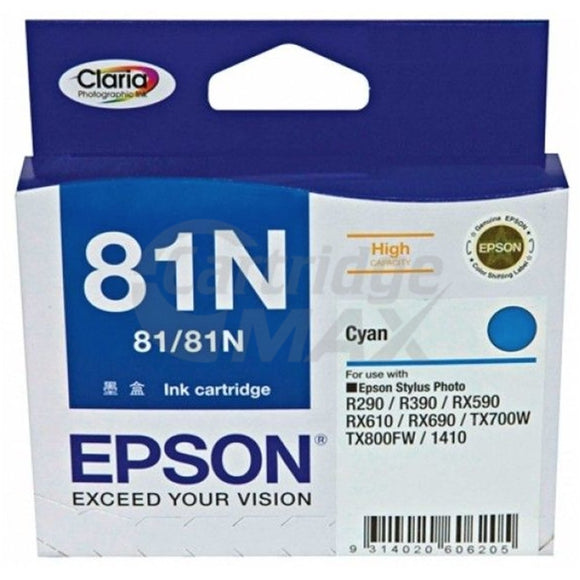 Original Epson T0812 81N HY Cyan Ink Cartridge - 805 pages [C13T111292]