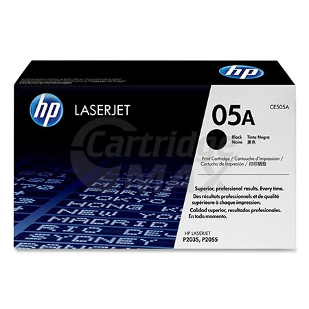 1 x HP CE505A (05A) Original Black Toner Cartridge - 2,300 Pages