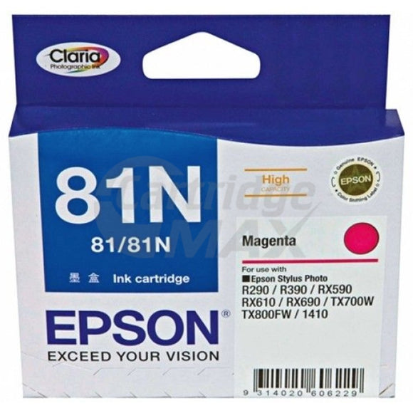 Original Epson T0813 81N HY Magenta Ink Cartridge - 805 pages [C13T111392]