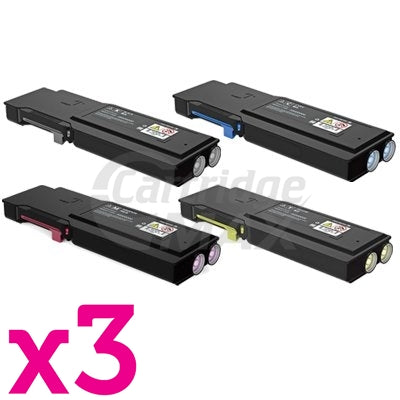 3 sets of 4 Pack Fuji Xerox DocuPrint CP405D, CM405DF Generic Toner Cartridges [CT202033-CT202036]